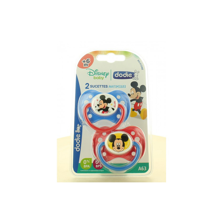 Dodie – Sucettes anatomique 3 +6m A63 duo mickey