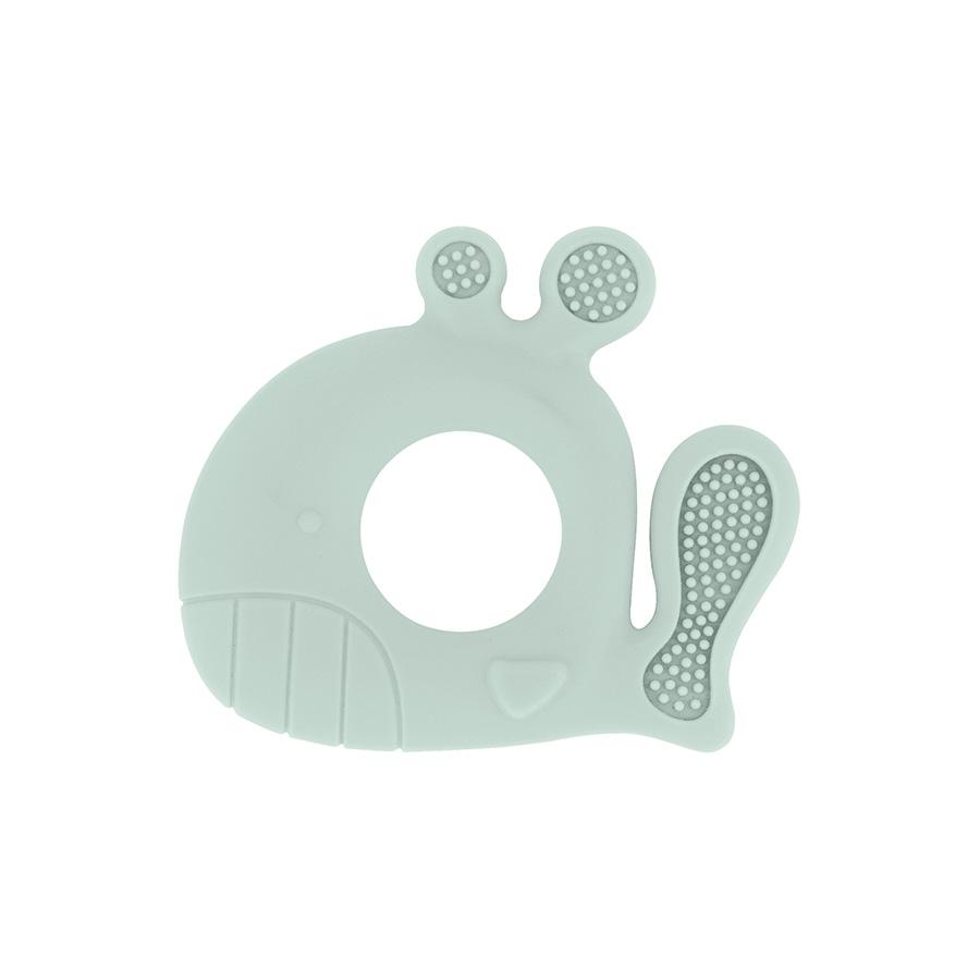 Anneau de dentition en silicone Baleine Mint