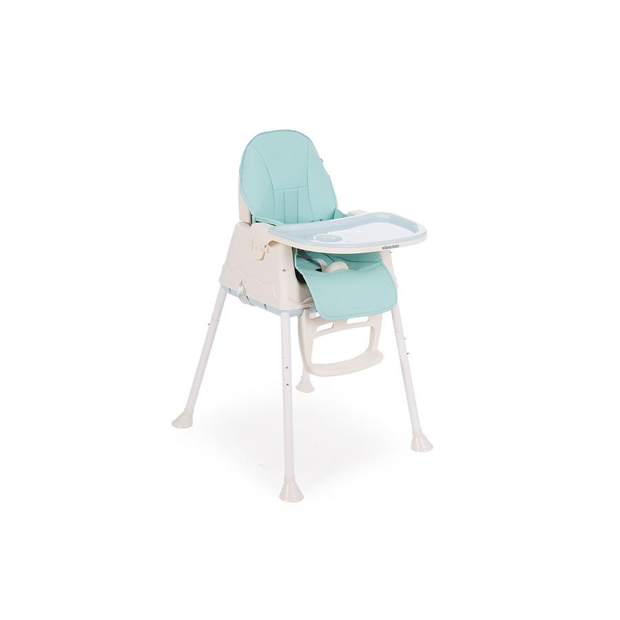 Chaise Haute Creamy 2en1 Bleu Clair