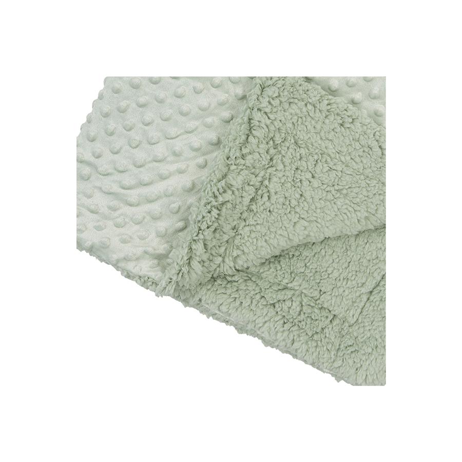 Couverture dots double face en vert