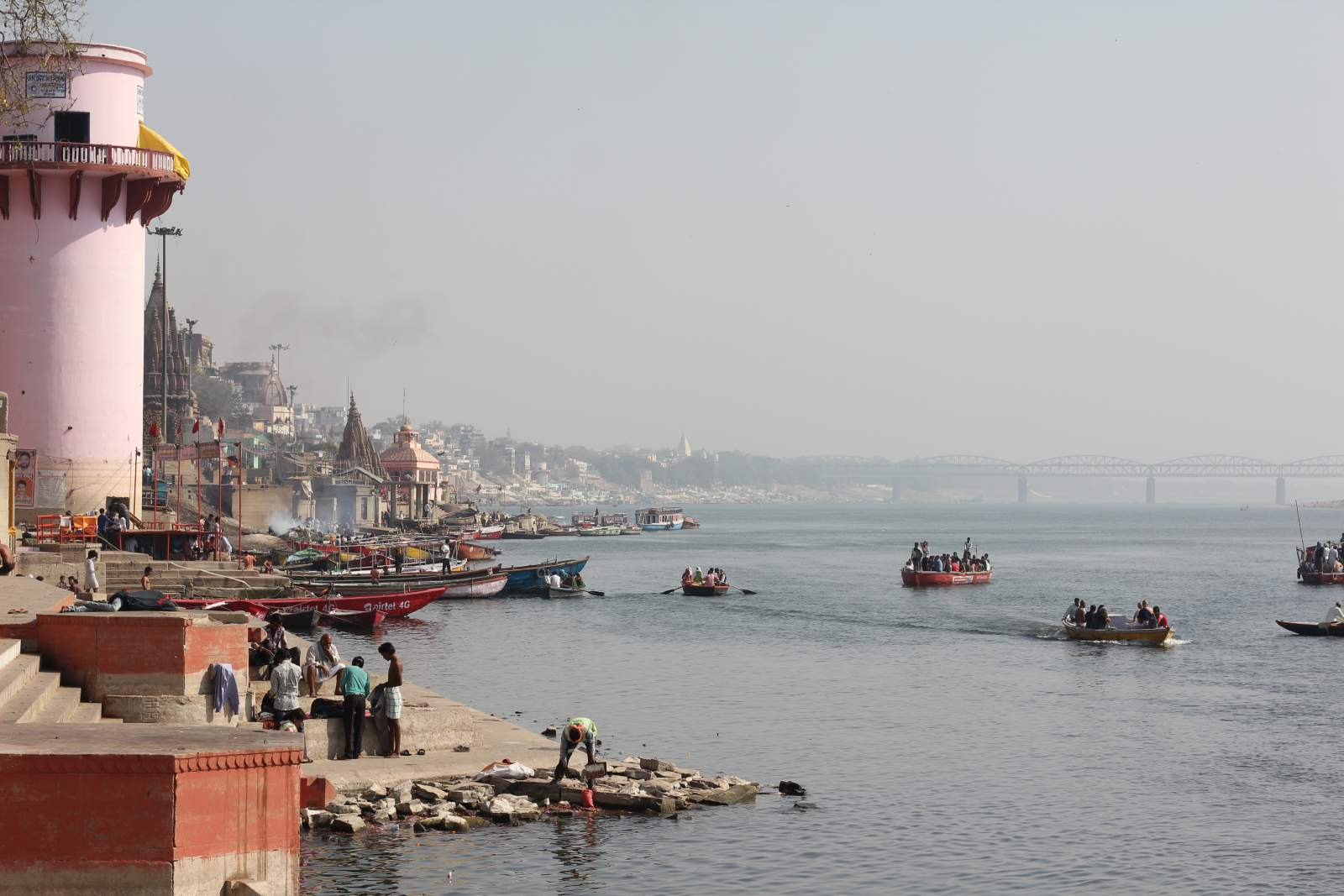 morning boats on the ganges in varanasi