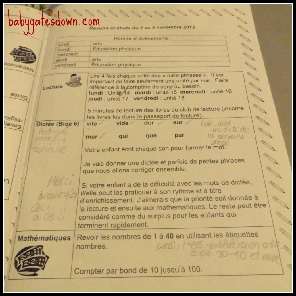 Grade One Homework