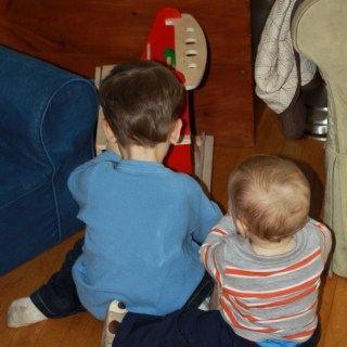 Wordless Wednesday: Playdate with a big boy