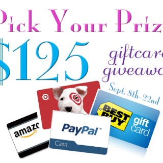 "$125 ""Pick Your Prize"" Gift Card #Giveaway"