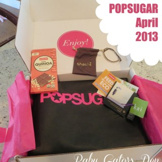 PopSugar Must Have April 2013 Box {Review}