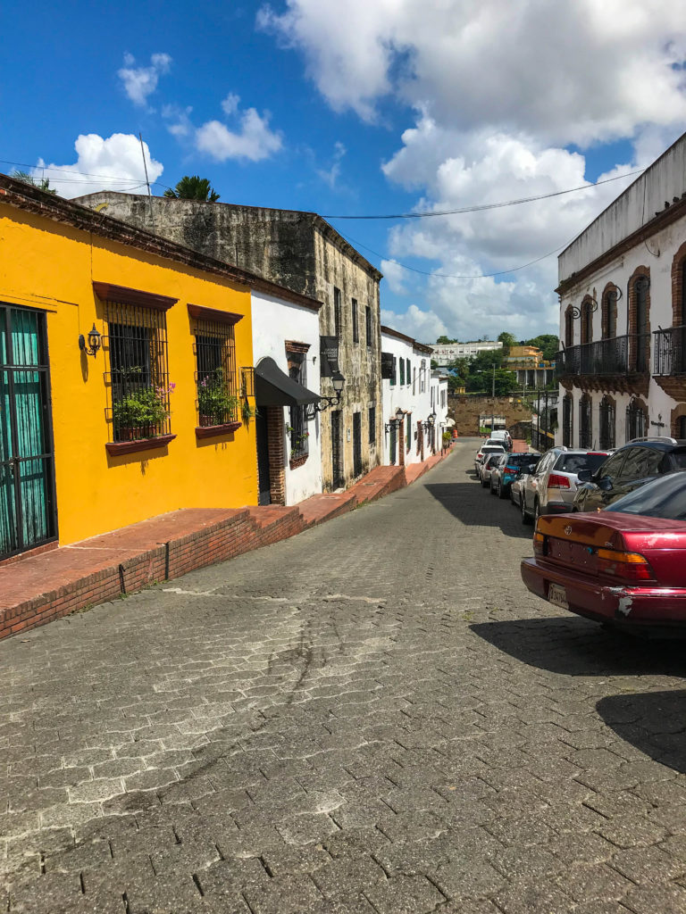 vibrant colonial buildings in Santo Domingo