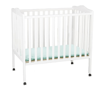 Delta Children Portable Mini Crib, White