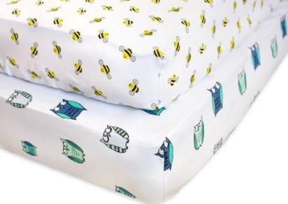 Fitted Crib Sheets - 100% Organic Jersey Cotton