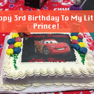 Happy 3rd Birthday to My Little Prince!
