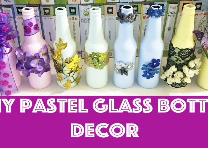 DIY Pastel Glass Bottle Decor!