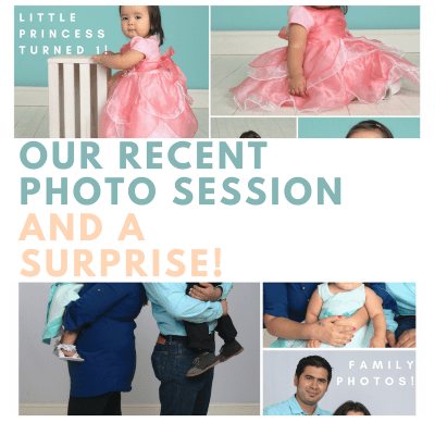 Our Recent Photo Session and A Surprise!