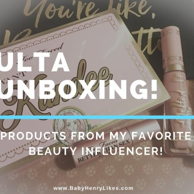 New video on my YouTube Channel: ULTA Unboxing! by Baby Henry Likes on www.BabyHenryLikes.com