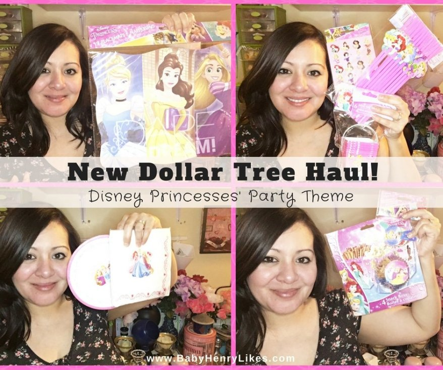 by Baby Henry Likes New Dollar Tree Haul Disney Princesses' Party Theme- www.BabyHenryLikes.com