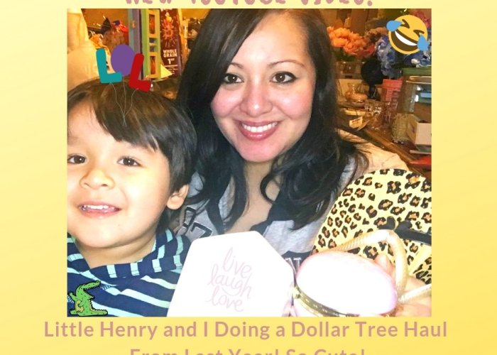 New YouTube Video! Little Henry and I Doing a Dollar Tree Haul From Last Year! So Cute!