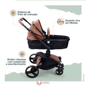 Litet Candy carrinho de bebê moderno