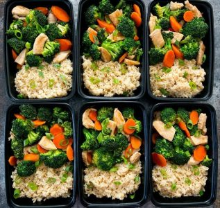 top-down photo of Chicken and Broccoli Stir Fry