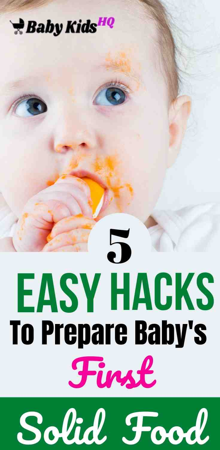 5 Easy Hacks To Prepare Baby's First Solid Food 2
