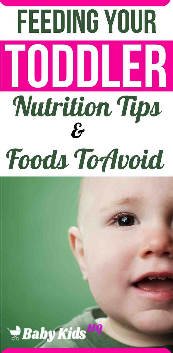 Feeding Your Toddler(1 to 2 Year Old) Foods To Avoid & Nutrition Tips 3