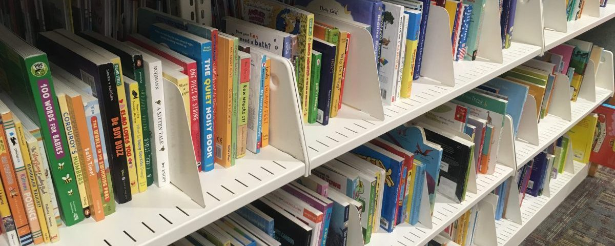 Board books in the library