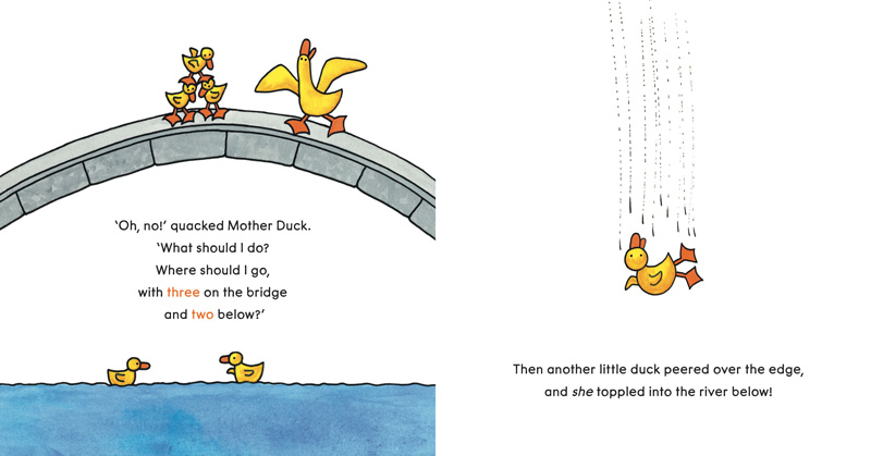 Spread of Ducks Away by Mem Fox