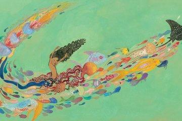 Full page spread of Julian is a Mermaid