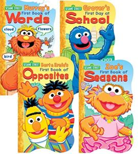 Cover of Sesame Street board books set of 4