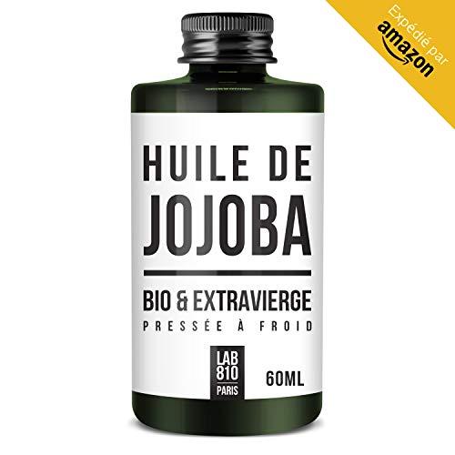 HUILE DE JOJOBA BIO 100% Pure et Naturelle, Pressée à froid & Extra Vierge - Pouvoir Anti Oxydant - Nourri et Stimule le Cheveu - Hydrate et Adoucit la Peau (60ml)
