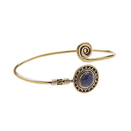 Lapis Lazuli Tribal Ethnique Indien Manchette Bracelet