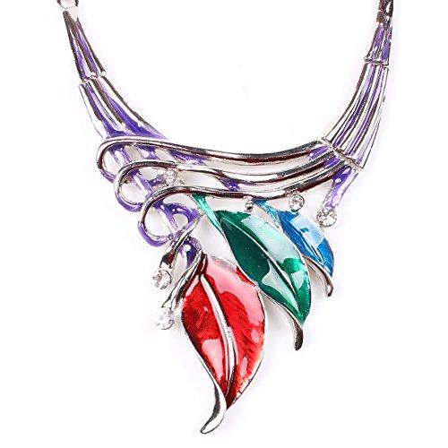 Ethnique Cristal ColoršŠ Laisse Plastron šŠMail Collier Boucles d'oreilles FixšŠ de Bijoux