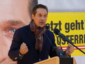 Leader of The Freedom Party of Austria, Heinz-Christian-Strache