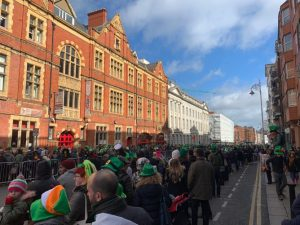St Patrick's Parade 2019 in Dublin City. Before the parade.