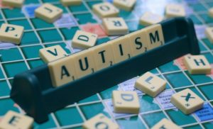 Image of a Scrabble word for Autism Awareness Day.