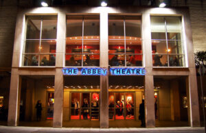 Abbey Theatre entrance in Dublin
