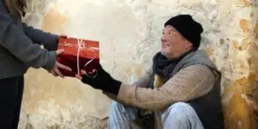 homeless, gift, christmas, give