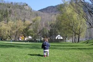 Bludenz-läuft (running event) with a baby