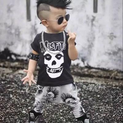 conjunto de bebe punk misfits