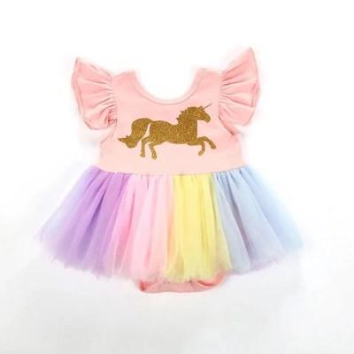 Body Unicornio Dorado Tull.