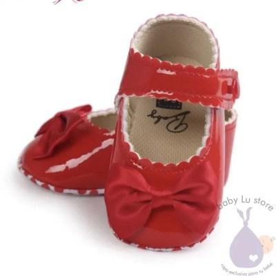 Zapatos cuero rojo