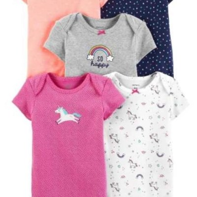 Set de body unicornio mangas cortas