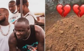 Davido And His Crew Visit Obama DMW's Grave In Epe, Lagos State (Watch Video)