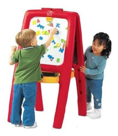 Kids-Double-Sided-Art-Easel-with-Magnetic-Letters-Numbers