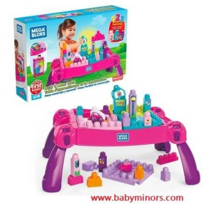 Mega-Bloks-Build-and-Learn-Table-Latest Gifts Ideas For 1 Year Old Baby Girl In 2020