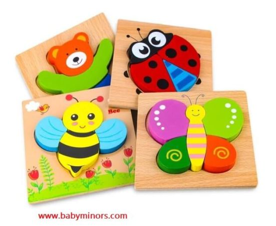 Wooden-Animal-Puzzles-for-Toddlers-Meaningful Gifts for One Year Old Boy