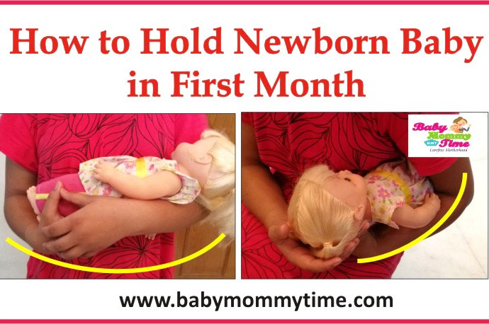 How to Hold Newborn Baby in the First Month