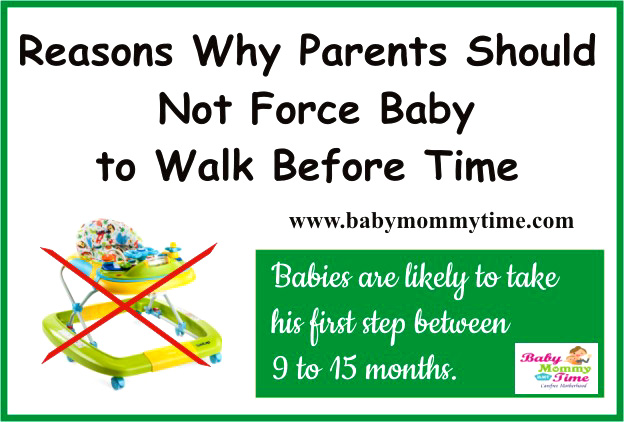 Reasons Why Parents Should Not Force Baby to Walk Before Time