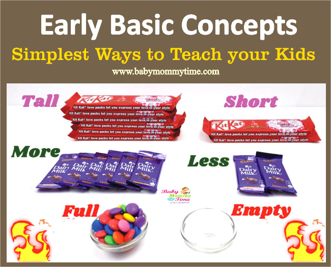Teach Basic Concepts to Kids – Big & Small, In & Out, More, Less, Tall & Short