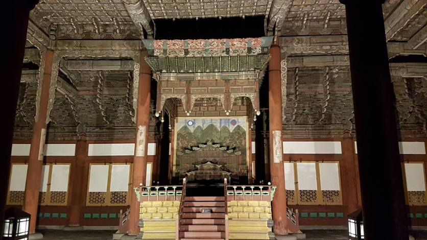 Inside Jughwajeon Hall
