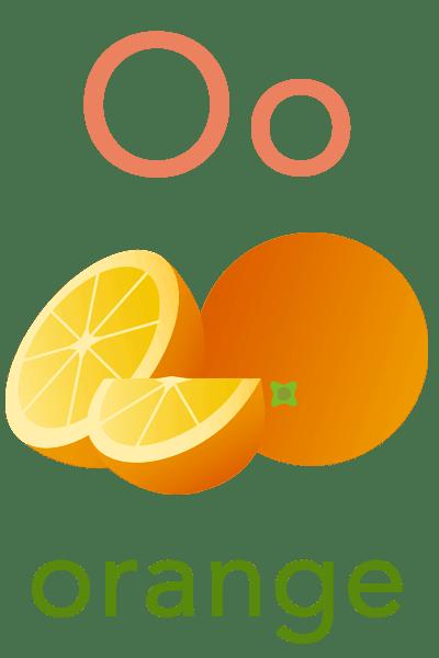 Baby ABC Flashcard - O for orange