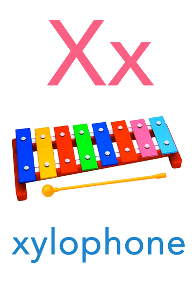 Baby ABC Flashcard - X for xylophone