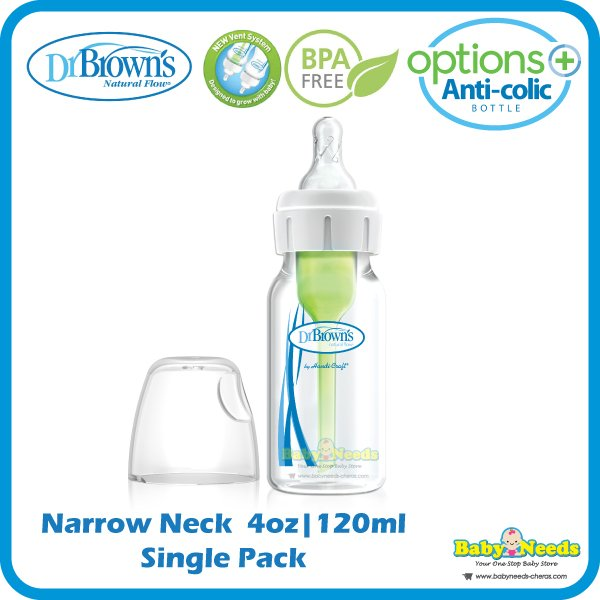 Dr Brown/'s 60ml Feeding Bottle With Preemie Teat Single Narrow Neck